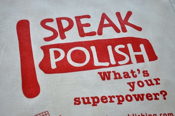 "Cloth bag ""I speak Polish"""