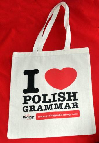 "Cloth bag ""I love Polish grammar"""