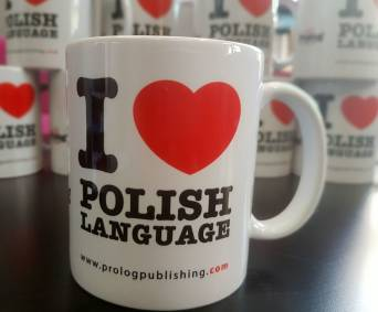 "Kubek ""I l love Polish language"""